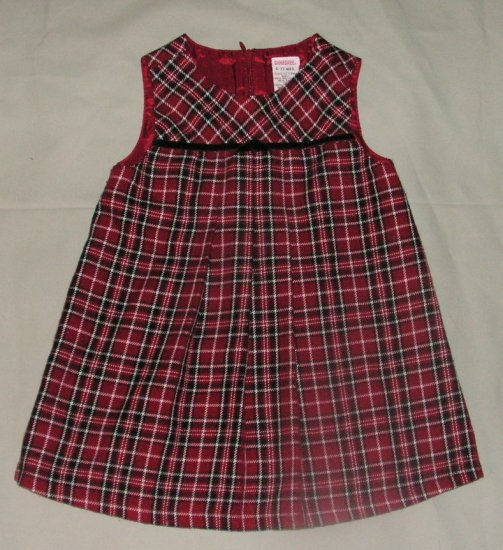 Gymboree Holiday Magic Pleated Plaid Dress 6-12 Months