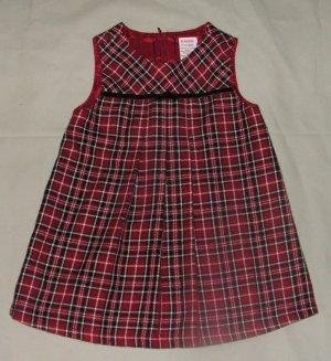 Gymboree Holiday Magic Pleated Plaid Dress 6-12 Months