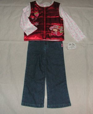 Strawberry Shortcake 3 piece Set size 3T