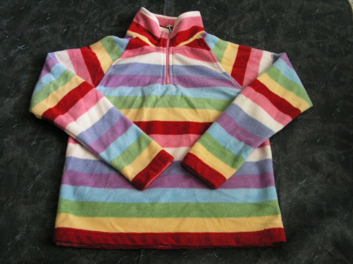 Gap Kids Fleece Striped Pullover sz 7-8