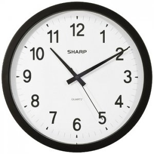 SHARP® WALL CLOCK  make sure you are on time L@@K