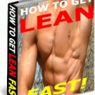 How To GET LEAN FAST WEIGHT LOSS DIET ebook Guide NEW