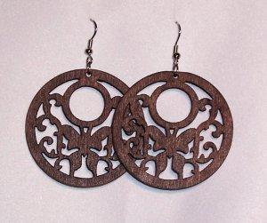 Wooden Wings Earrings