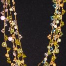 Gold Crocheted Necklace