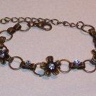Bronze Flower Bracelet