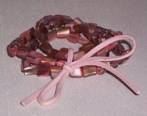 Bubble Gum Shell Bracelet