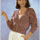 Patons KNITTING PATTERN Women's Cardigan EASY KNIT