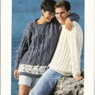 Patons KNITTING PATTERN  Cable Pullover for Women or Men