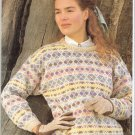 Jaeger  KNITTING PATTERN  Women's Fair Isle Pullover