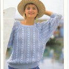 Patons KNITTING PATTERN  Women's Lacy  Pullover  with Bobbles in DK