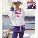 Patons KNITTING PATTERN  Nautical Cardigan and Sleveless Top
