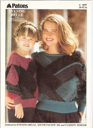 Patons KNITTING PATTERN  Pullover for Girls and Women