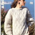 Patons KNITTING PATTERN  Cable Pullover  in Chunky Weight