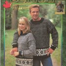 Bernat  KNITTING PATTERN  Snowflake Pullover  in Worsted Weight