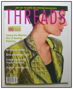 THREADS Magazine #100 Fleece cord Ribbons Adhesives ++