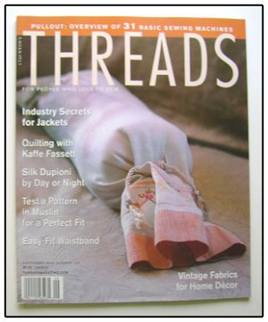 THREADS Magazine #102 Kaffe Fasset Quilting Jackets ++