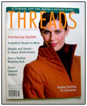 THREADS Magazine #103 Buttonholes Interfacing Slipcover