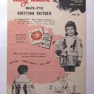 VINTAGE Mary Maxim 1957 KNITTING PATTERN Soldier Boy