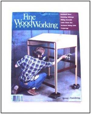 1987 FINE WOODWORKING Magazine #62 Spray Finishing Sliding Dovetails Bookcases +