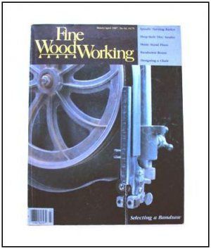1987 FINE WOODWORKING Magazine #63 Bandsaw Spindle Turning Music Stand ++