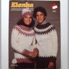 Elenka Lopi KNITTING PATTERN Fair Isle Yoked Pullover Toque CHILD ... ECL25