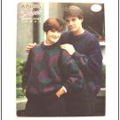 KNITTING Pattern TUMBLING BLOCKS Design Pullover Men Women