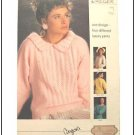 KNITTING Pattern LACE PANEL SWEATER with Collar