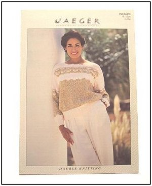 KNITTING Pattern CHEVRON LACE Sweater in DK