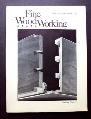 1984 FINE WOODWORKING Magazine #45 Making Drawers Boomerang Marquetry ++