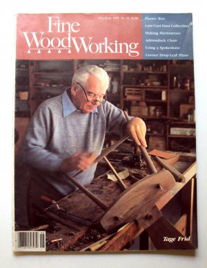 1985 FINE WOODWORKING Magazine #52 Tage Frid Marionettes Adirondack Chair ++