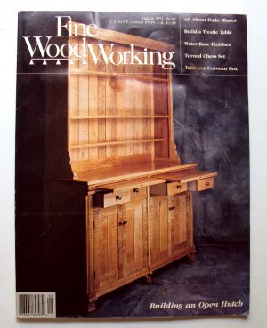 1991 FINE WOODWORKING Magazine #89 Open Hutch Trestle Table Turned Chess Set +