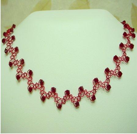 Red Swarovski Crystal Choker