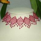 Red Swarovski Crystal + 925 Silver Choker