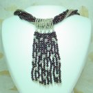 Garnet Stone + 925 Silver Necklace