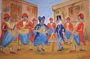 "Milton Cairoli oil painting ""Candombe"""