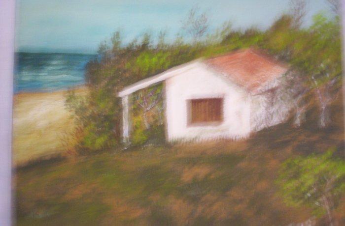 "Milton Cairoli oil painting ""Playa Las Flores"""