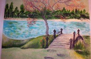 """Milton Cairoli oil painting """"Puentecito"""""""