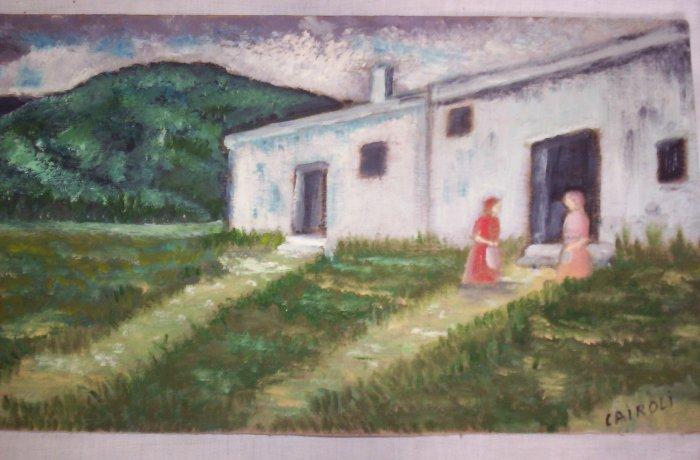 """Milton Cairoli oil painting """"Las vecinas"""""""