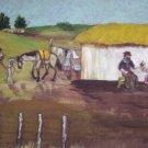 "Milton Cairoli oil painting ""Mateando en la mañana"""