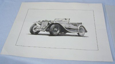 1948 MG-TC Collectors Series art-William Kuhlman