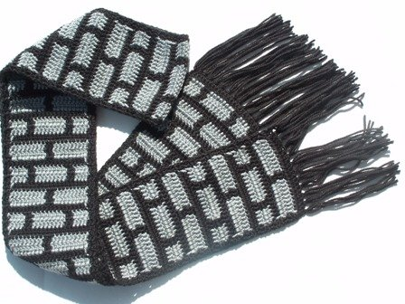 Black and Gray Brick Scarf
