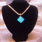 Dichroic glass necklace 0108