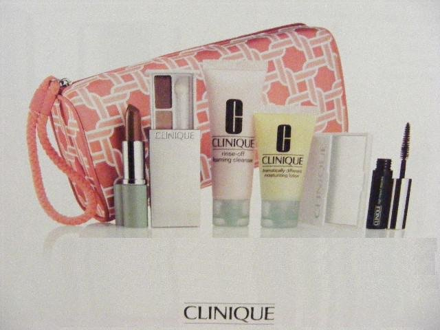 Clinique Gift Set 7-Piece Rose Aglow Lipstick/Colour Surge Shadow +Mascara+Foaming Cleanser+More!