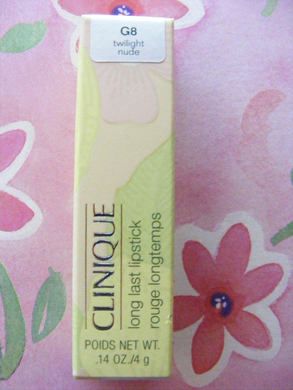 Clinique Twilight Nude G8 Long Last Lipstick New in Box!