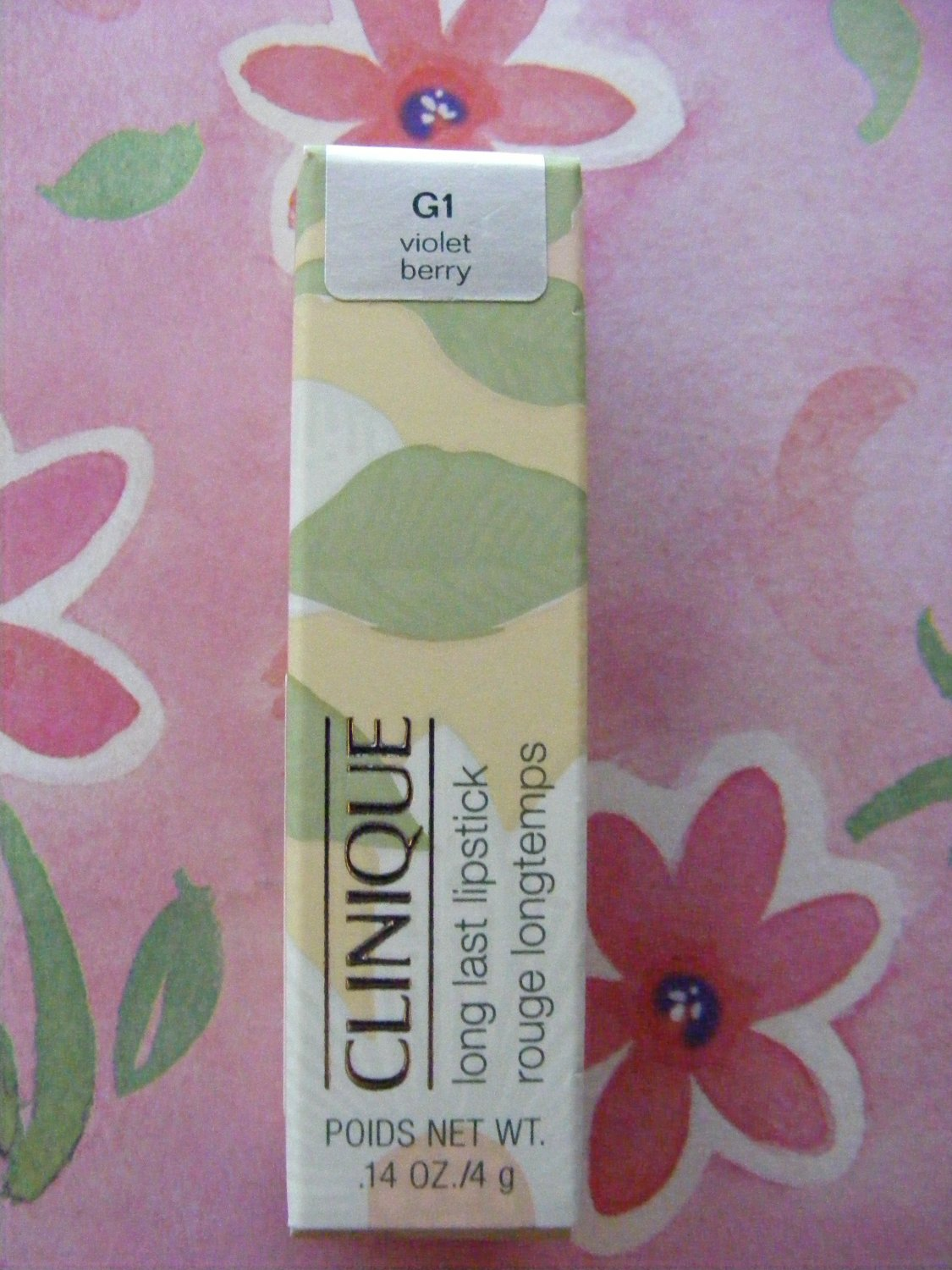 Clinique Violet Berry G1 Long Last Lipstick New in Box!