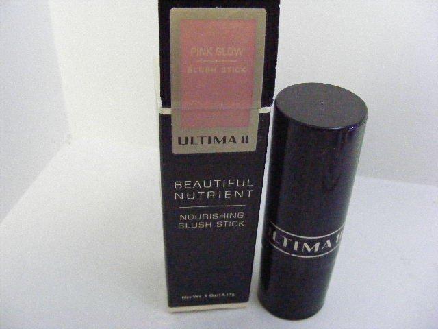 Ultima II Pink Glow Blush Stick Beautiful Nutrient  Nourish Blush Stick