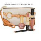 Joan Rivers Apricot Lip Gloss Lipstick Lipliner Nail Polish SET
