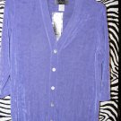 Slinky Brand HSN Jacket Cardigan Size Small Lavender Cardigan New w/ Tags