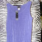 Slinky Brand HSN Shell Size Small Lavender Sleeveless Shell New w/ Tags