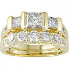 14K Yellow Gold 2 3/4ct. TDW Diamond Bridal Ring Set